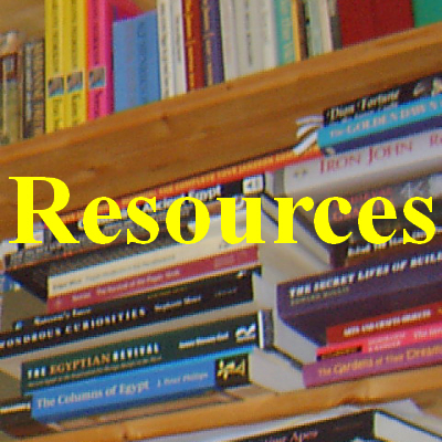 Image of books forming a link to the Resources page